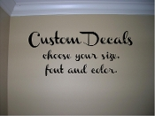 Custom decals- choose your color, size and font