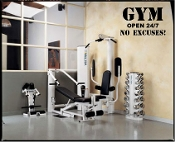 GYM OPEN 24/7 NO EXCUSES!