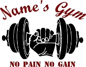 Customized gym decal w/name and quote