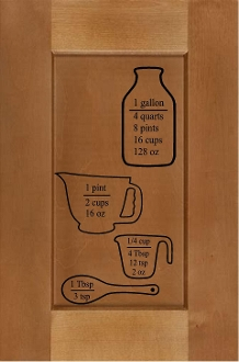 Measuring Cup Equivalents - kitchen vinyl decal