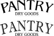 Pantry Dry Goods - vinyl decal
