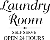 Laundry Room Self Serve Open 24 Hours