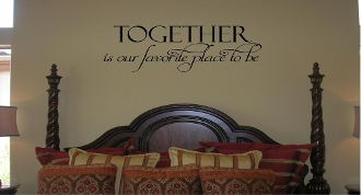 Together is our favorite place to be - vinyl decal
