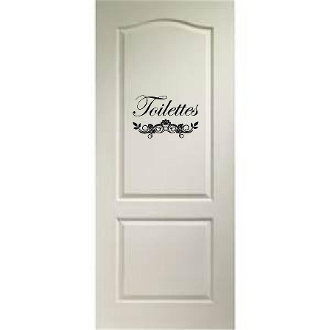 Toilettes - bathroom vinyl decal