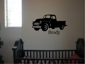 Truck silhouette with your childs name - vinyl decal